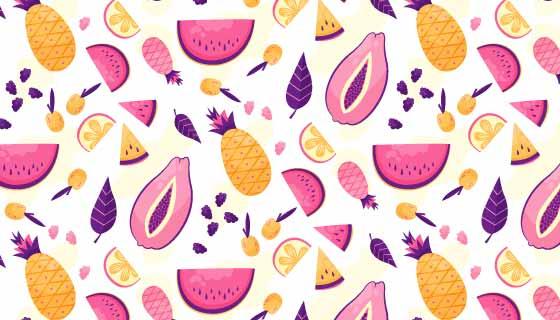 紫色水果图案背景矢量素材(AI/EPS)