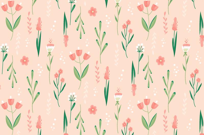 漂亮的花朵图案背景矢量素材(AI/EPS)