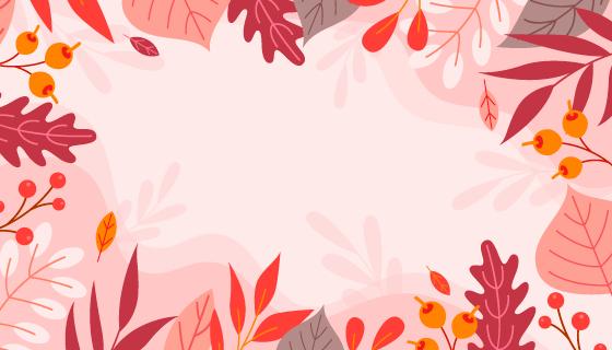 多彩的叶子秋天背景矢量素材(AI/EPS)