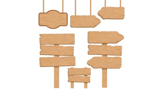 木质招牌/路标矢量素材(EPS)
