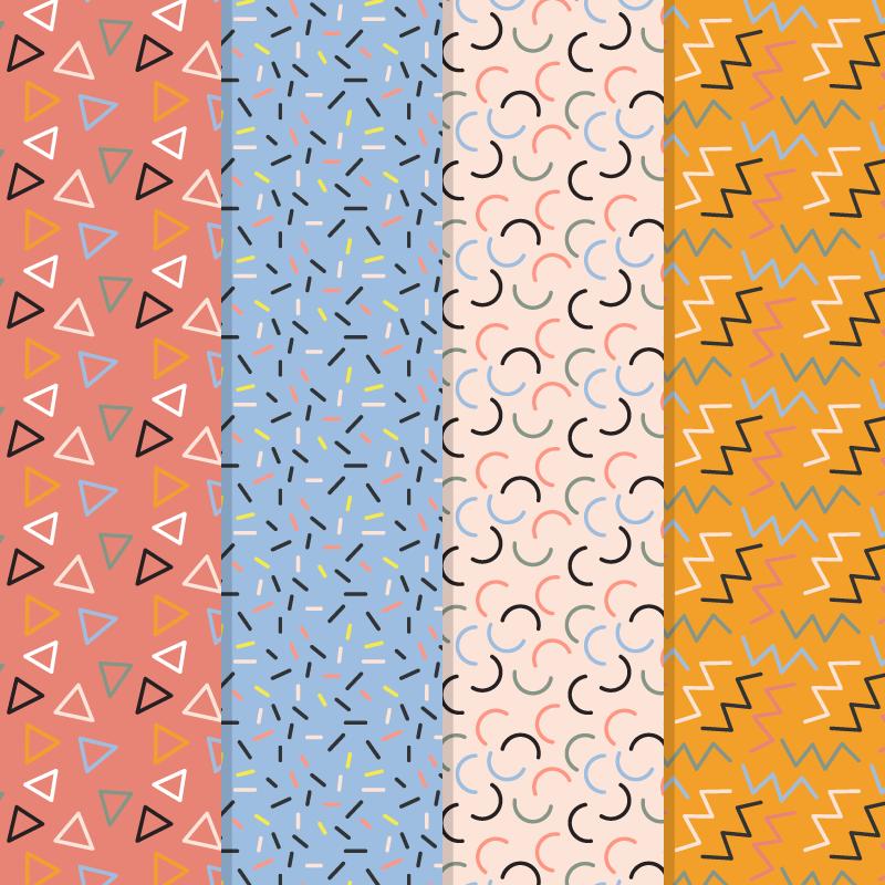简约几何图形背景矢量素材(AI/EPS)