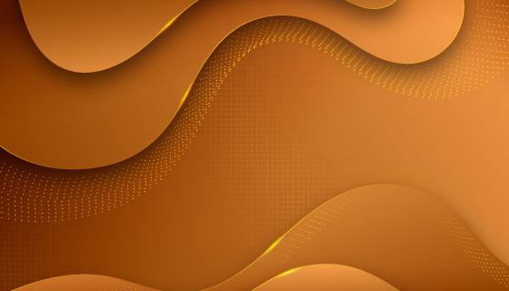 金色波浪奢华背景矢量素材(AI/EPS)