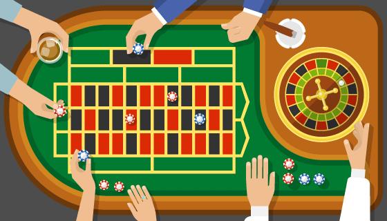 赌场大转盘游戏矢量素材(EPS)