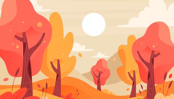 多彩的秋天背景矢量素材(AI/EPS)