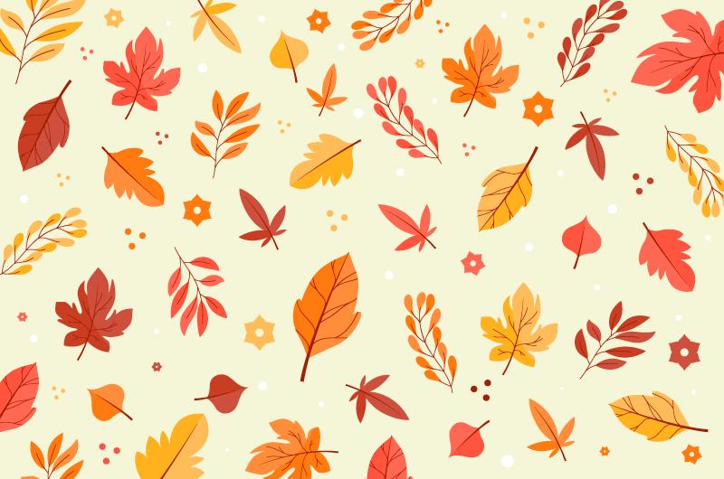 各种各样的叶子秋天背景矢量素材(AI/EPS/免扣PNG)