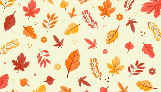 各种各样的叶子秋天背景矢量素材(AI/EPS/PNG)