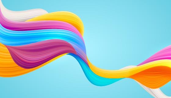 多彩流动波浪背景矢量素材(AI/EPS)
