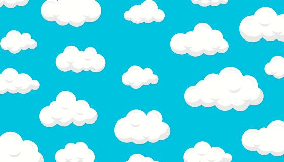 扁平风格简单的蓝天白云背景矢量素材(AI/EPS)