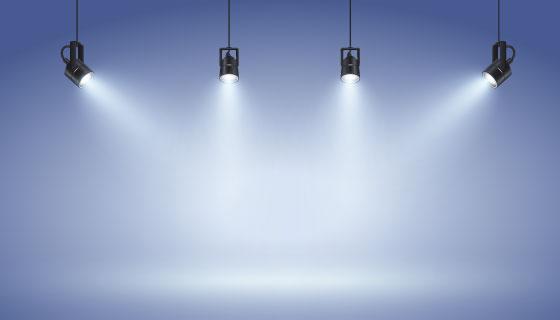 逼真的聚光灯矢量素材(AI/EPS)