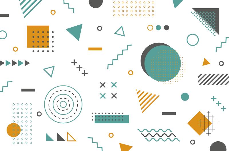 孟菲斯风格几何形状背景/壁纸矢量素材(AI/EPS/免扣PNG)