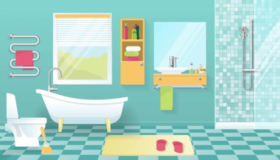 现代风格的浴室矢量素材(EPS)