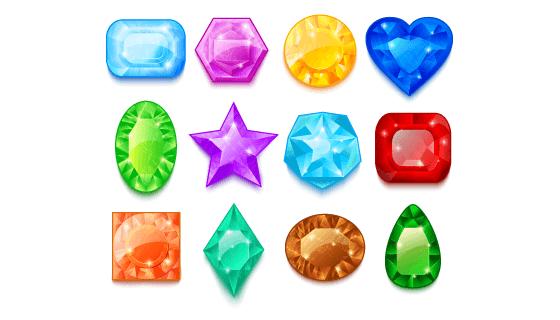 五彩缤纷的宝石矢量素材(EPS)