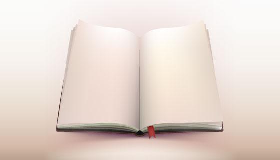 翻开的书本矢量素材(EPS)