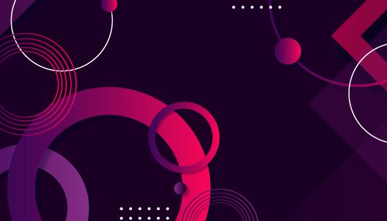 渐变几何形状抽象背景/壁纸矢量素材(AI/EPS)