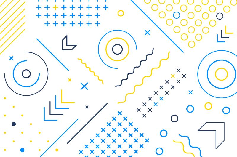 简约几何图形背景/壁纸矢量素材(AI/EPS)