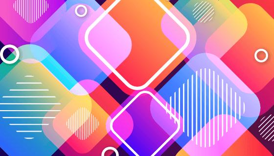 多彩重叠方块背景矢量素材(AI/EPS)