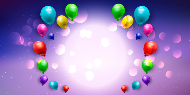 多彩气球bannner矢量素材(EPS)