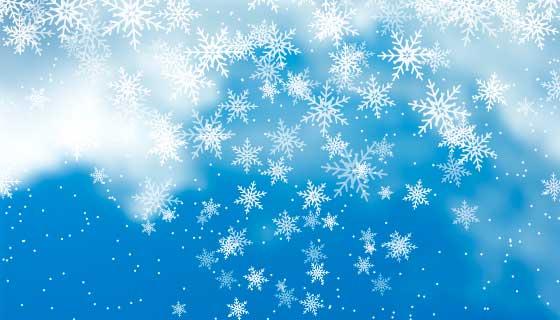 圣诞节雪花背景矢量素材(EPS)