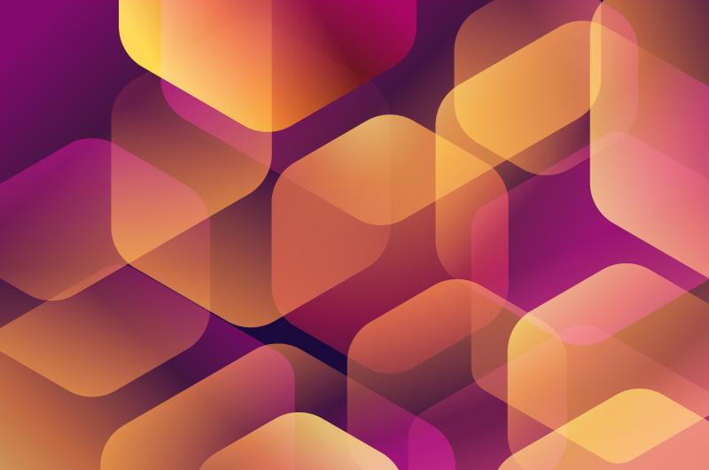 六边形设计抽象背景矢量素材(AI/EPS)