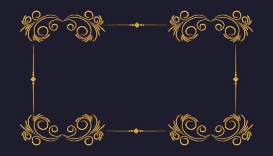 金色装饰边框矢量素材(EPS)