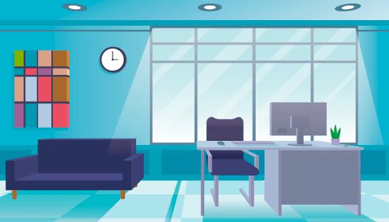 现代风格办公室矢量素材(AI/EPS)