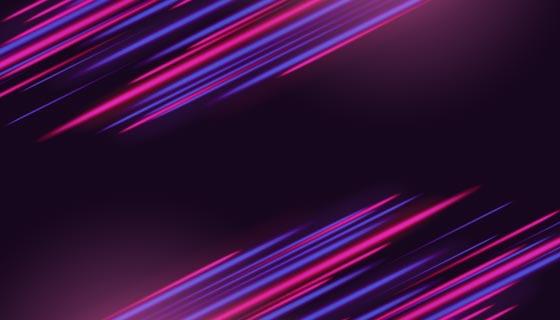 抽象的霓虹灯背景矢量素材(AI/EPS)