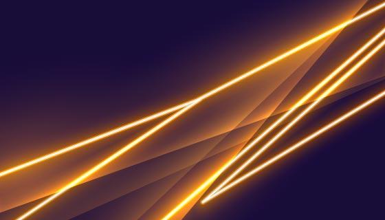 时尚的金色霓虹灯背景矢量素材(EPS)