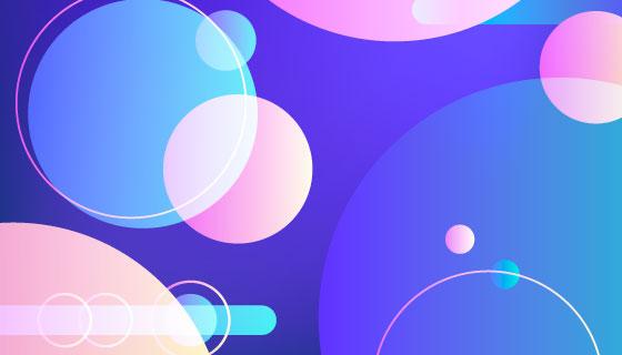 抽象风格圆圈背景矢量素材(AI/EPS)