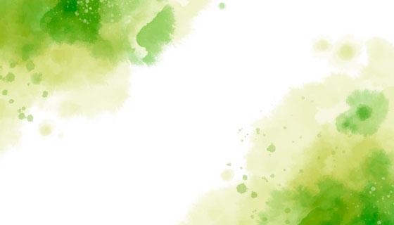 浅绿色水彩背景矢量素材(AI/EPS)