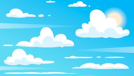 简单的蓝天白云背景/壁纸矢量素材(AI/EPS)