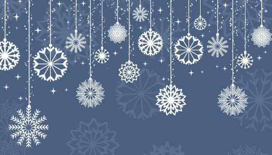 雪花和星星装饰背景矢量素材(EPS)