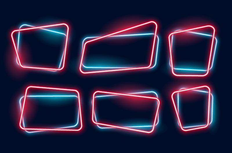 漂亮的霓虹灯边框矢量素材(EPS)