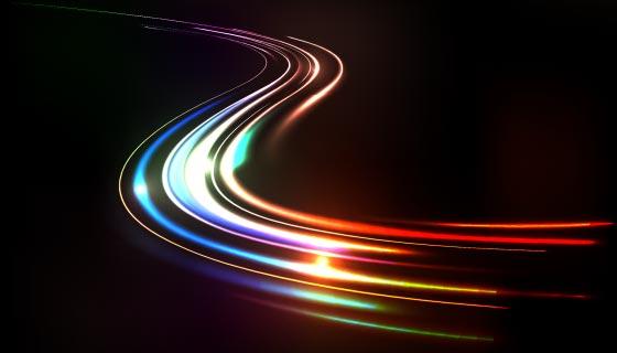 多彩的高速光线矢量素材(AI/EPS)