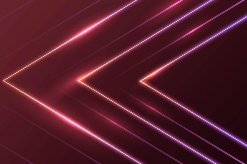 抽象箭头霓虹灯背景矢量素材(AI/EPS)