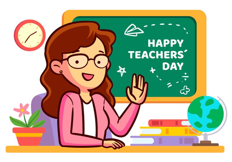 讲课的老师教师节矢量素材(AI/EPS/免扣PNG)