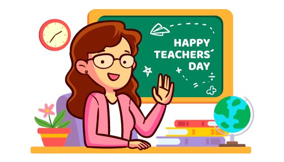 讲课的老师教师节矢量素材(AI/EPS/PNG)