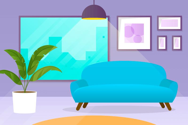 现代客厅设计矢量素材(AI/EPS)