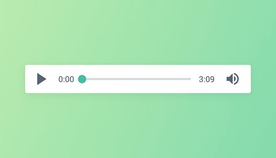 绿色简单的HTML5音乐播放器