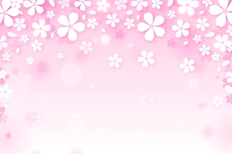 樱花渐变背景矢量素材(AI/EPS)