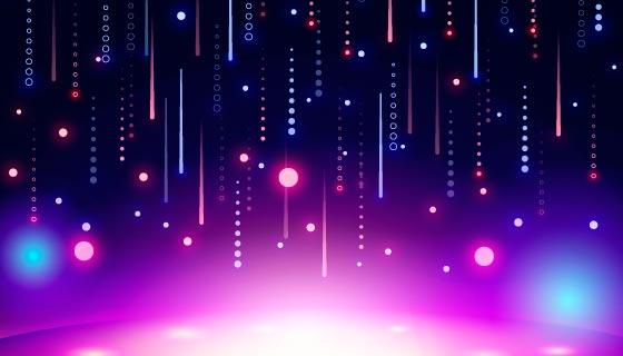 生动的霓虹灯背景/壁纸矢量素材(AI/EPS)