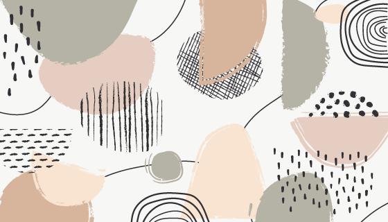 抽象的蜡笔背景矢量素材(AI/EPS)