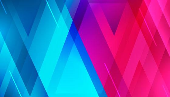 蓝色红色重叠交叉背景矢量素材(AI/EPS)