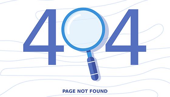 放大镜元素404错误页面设计(EPS/AI)