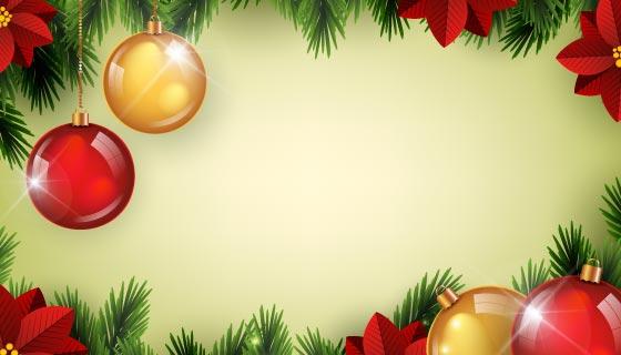 逼真的圣诞装饰圣诞节背景矢量素材(AI/EPS)
