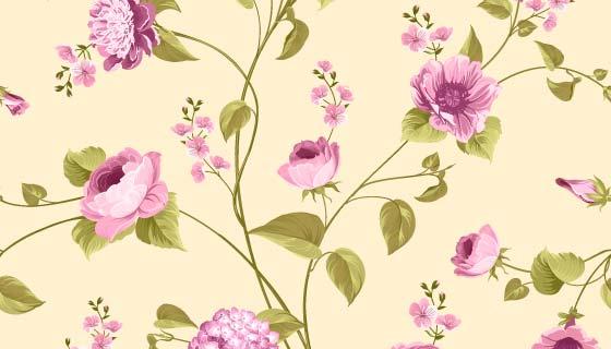 紫色玫瑰花背景矢量素材(EPS)