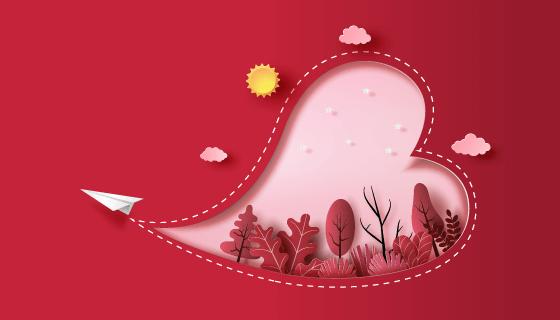 飞向你的心设计爱情矢量素材(EPS)