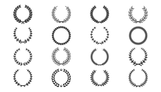 黑色复古装饰花环矢量素材(EPS/PNG)