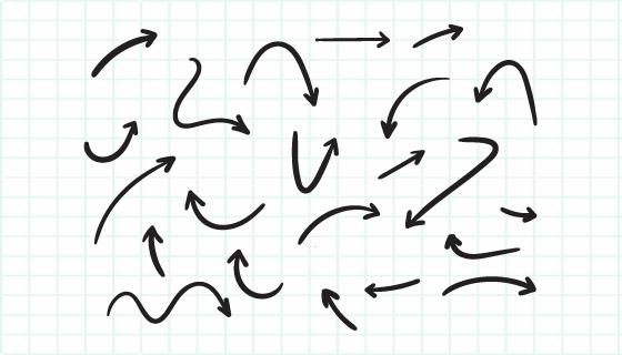 手绘风格黑色箭头矢量素材(EPS)