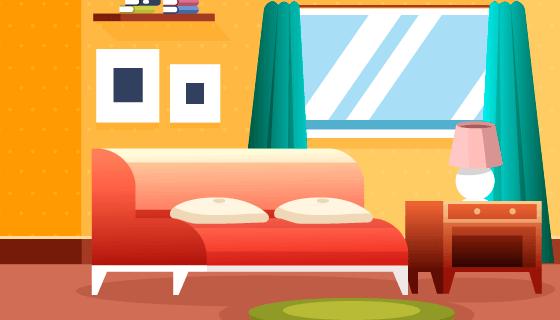 现代风格客厅设计矢量素材(AI/EPS)