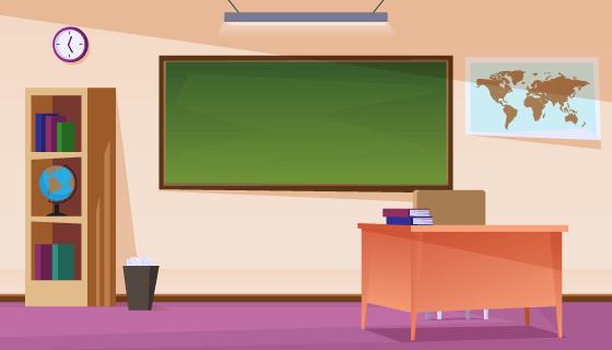 空旷的教室矢量素材(AI/EPS)